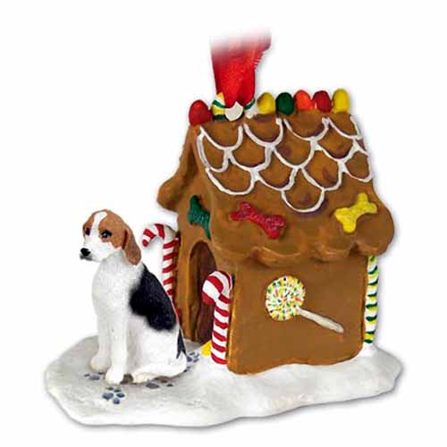 Foxhound Gingerbread House Christmas Ornament