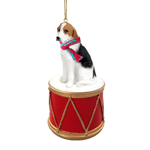 Little Drummer Foxhound Christmas Ornament