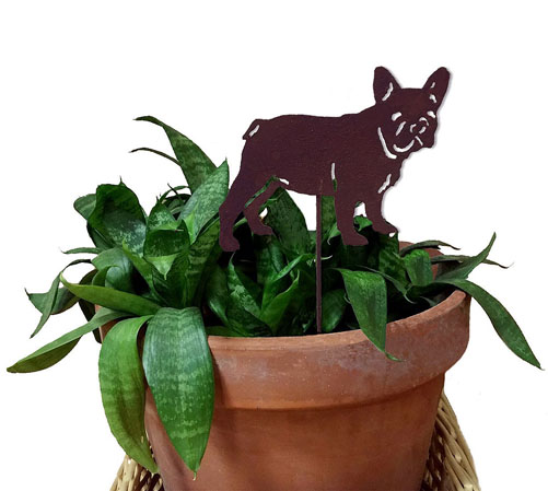 French Bulldog Plant Stake