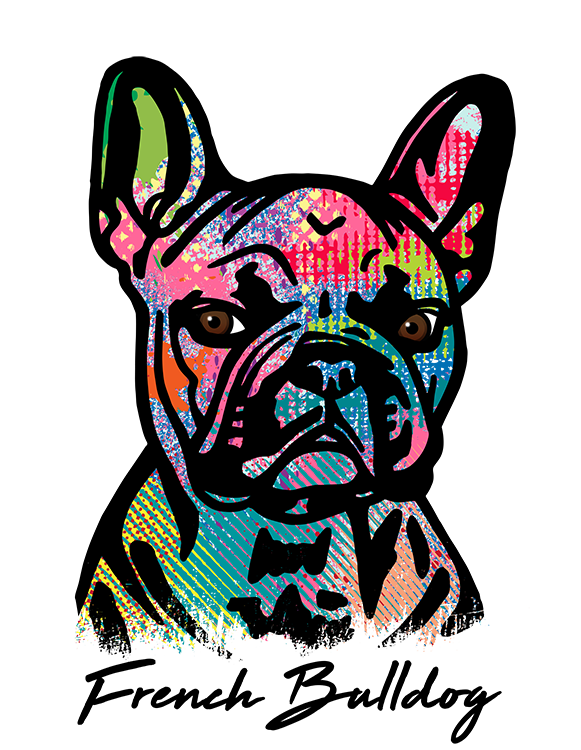 French Bulldog T Shirt Colorful Abstract
