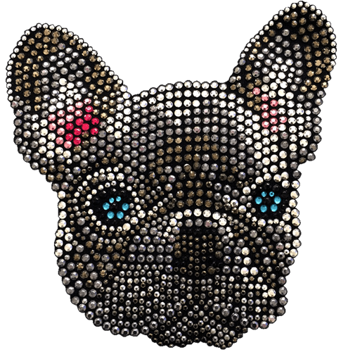 French Bulldog T-Shirt Rhinestone-Rhinestud
