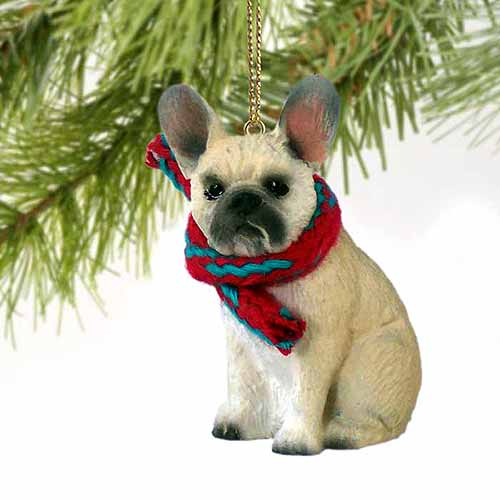 French Bulldog Tiny One Christmas Ornament Fawn