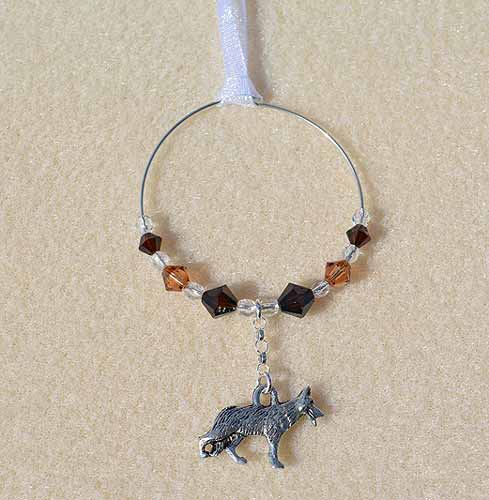German Shepherd Car Charm - Sun Catcher