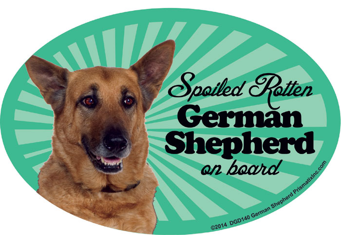 German Shepherd Car Magnet - Spoiled Rotten