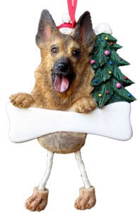 German Shepherd Christmas Tree Ornament - Personalize