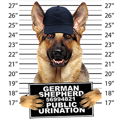 German Shepherd T-Shirt - Mug Shot