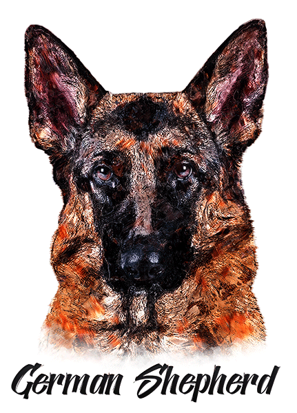 German Shepherd T-Shirt - Vivid Colors
