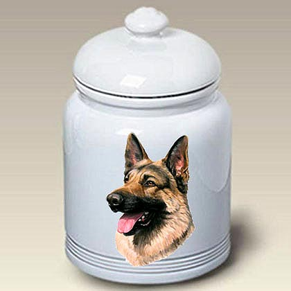 German Shepherd Treat Jar