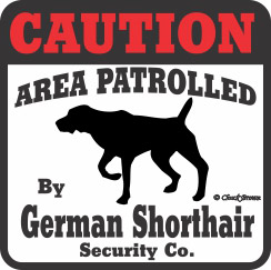 German Shorthaired Pointer Bumper Sticker Caution