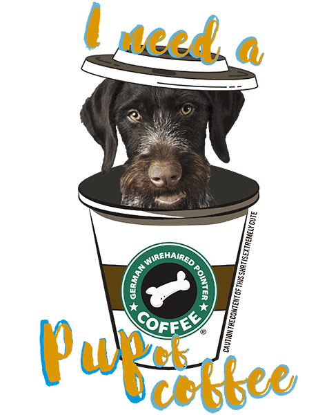 German Wirehaired Pointer T Shirt - Coffee Mug