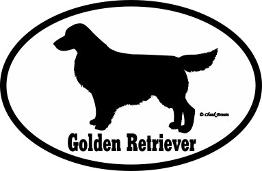 Golden Retriever Bumper Sticker Euro