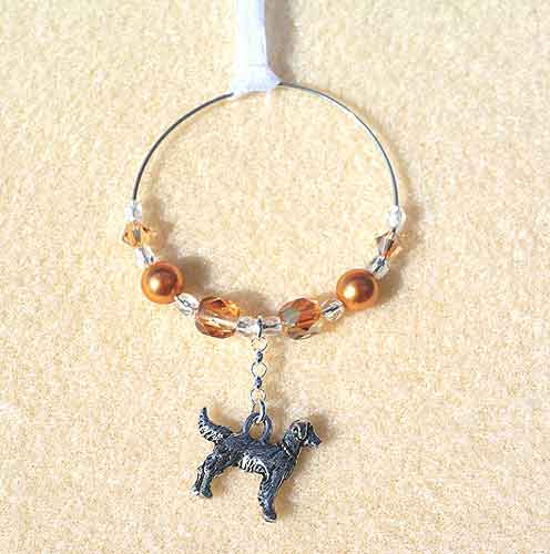 Golden Retriever Car Charm - Sun Catcher