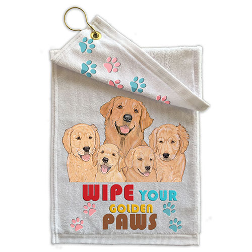 Golden Retriever Paw Wipe Towel