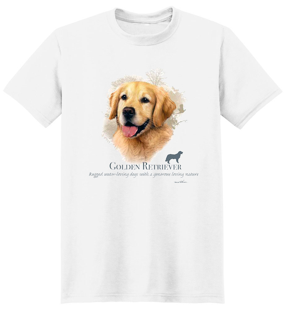 Golden Retriever T Shirt by Howard Robinson