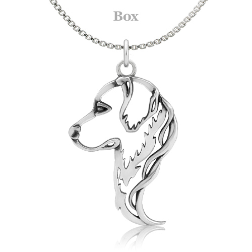 Sterling Silver Golden Retriever Head Necklace