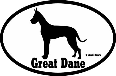 Great Dane Bumper Sticker Euro