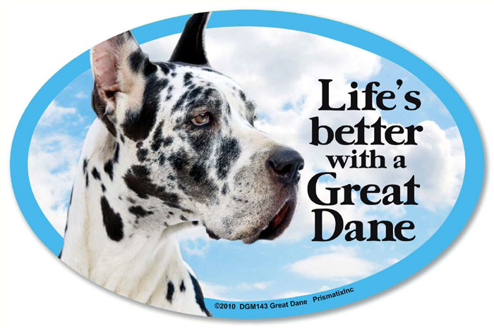 Great Dane Car Magnet - Life's Better