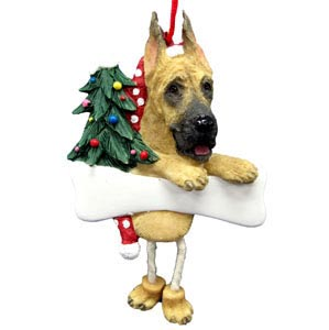 Great Dane Christmas Tree Ornament - Personalize