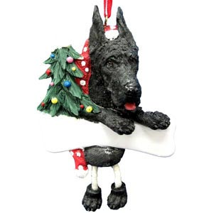 Great Dane Christmas Tree Ornament - Personalize (Black)