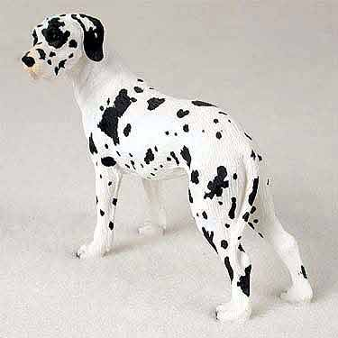 Great Dane Figurine Harlequin Uncropped