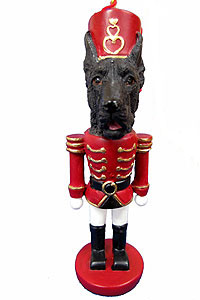 Great Dane Ornament Nutcracker (Black)