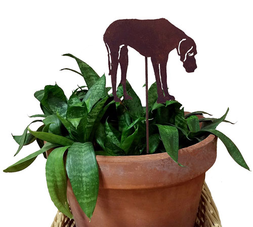 Great Dane Plant Stake
