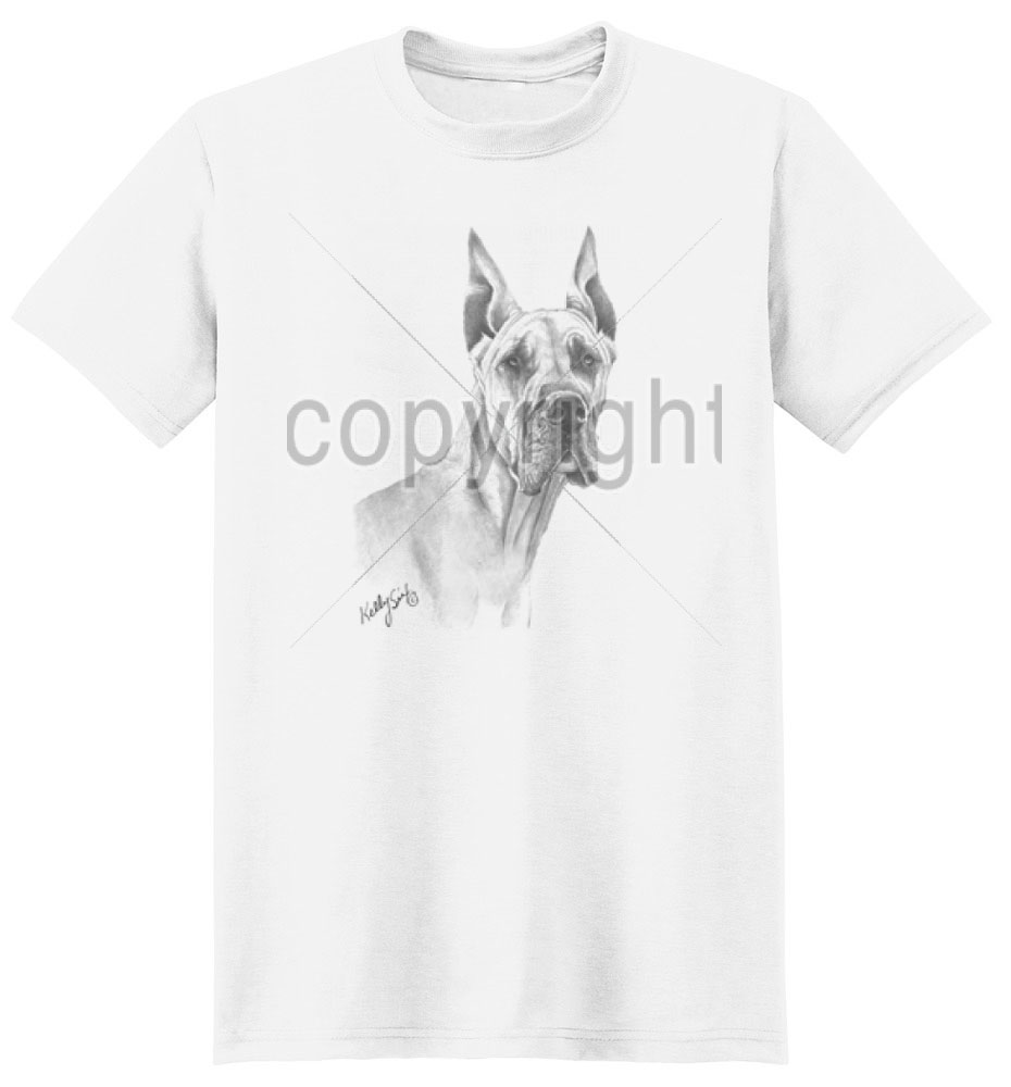 Great Dane T Shirt by Kelly Six
