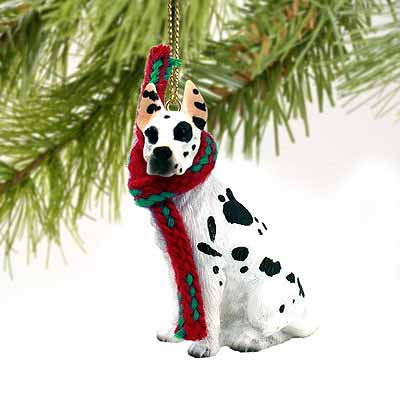 Great Dane Tiny One Christmas Ornament Harlequin