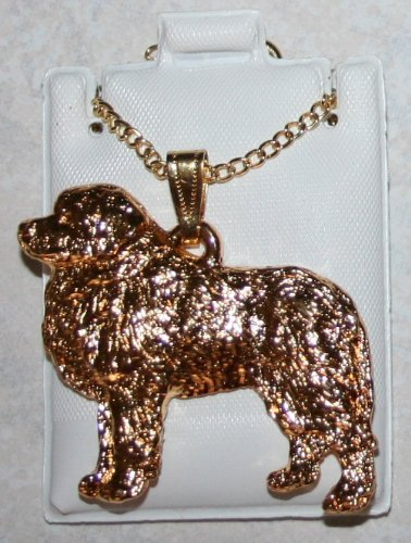 Great Pyrenees 24K Gold Plated Pendant with Necklace
