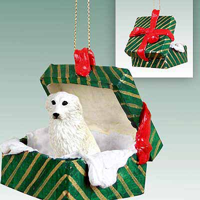 Great Pyrenees Gift Box Christmas Ornament