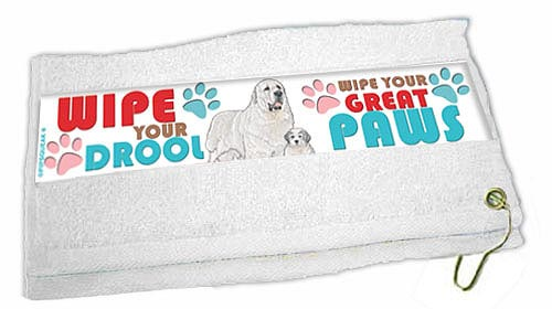 Great Pyrenees Paw Wipe Towel