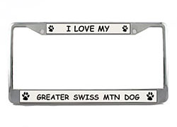 Greater Swiss Mountain Dog License Plate Frame