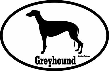 Greyhound Bumper Sticker Euro