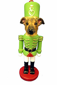 Greyhound Ornament Nutcracker (Brindle)