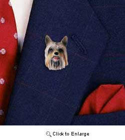 Silky Terrier Pin Hand Painted Resin