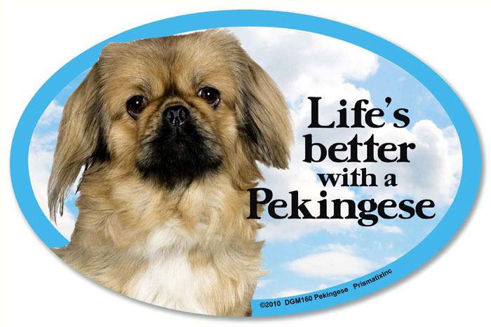 Pekingese Car Magnet - Life's Better