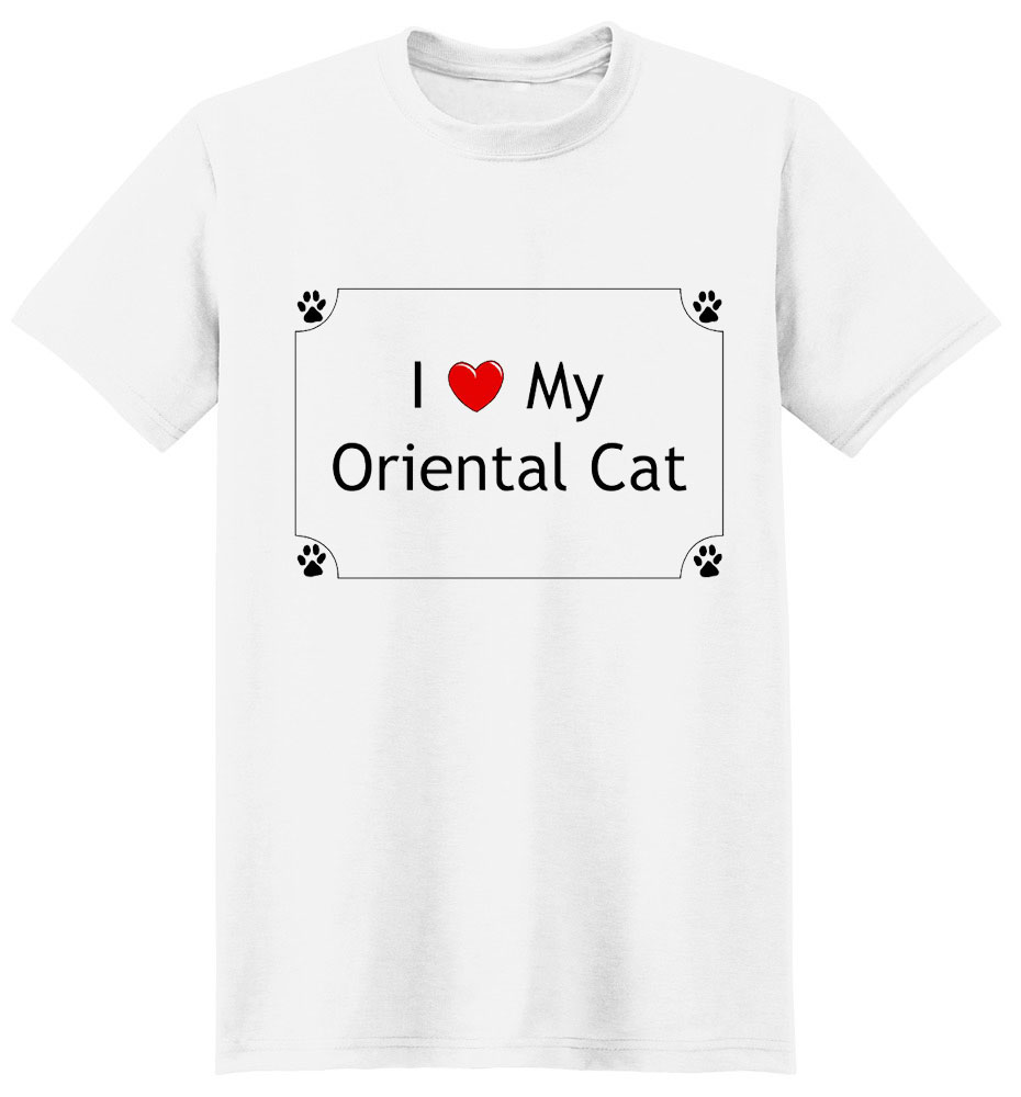 Oriental Cat T-Shirt - I love my