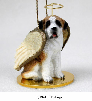 Saint Bernard Angel Ornament Smooth Coat