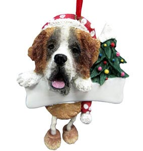Saint Bernard Christmas Tree Ornament - Personalize
