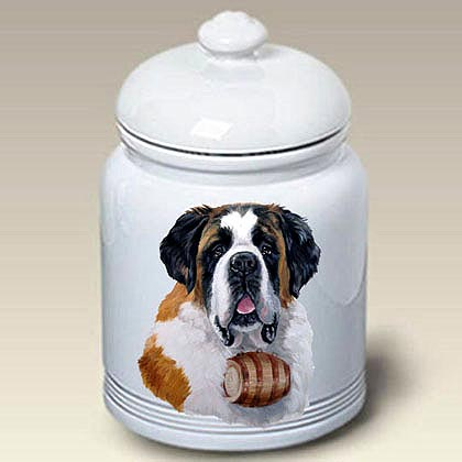 Saint Bernard Treat Jar