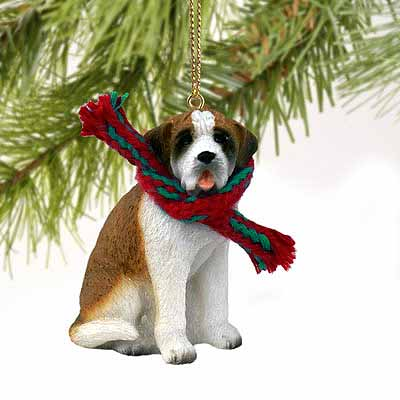 Saint Bernard Tiny One Christmas Ornament Smooth Coat
