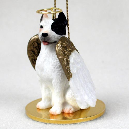 Pit Bull Terrier Angel Ornament White