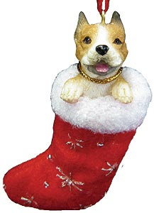 Pit Bull Terrier Christmas Stocking Ornament