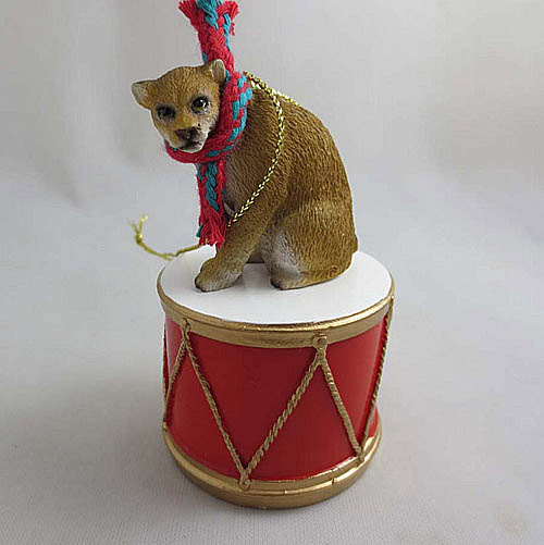 Little Drummer Cougar Christmas Ornament