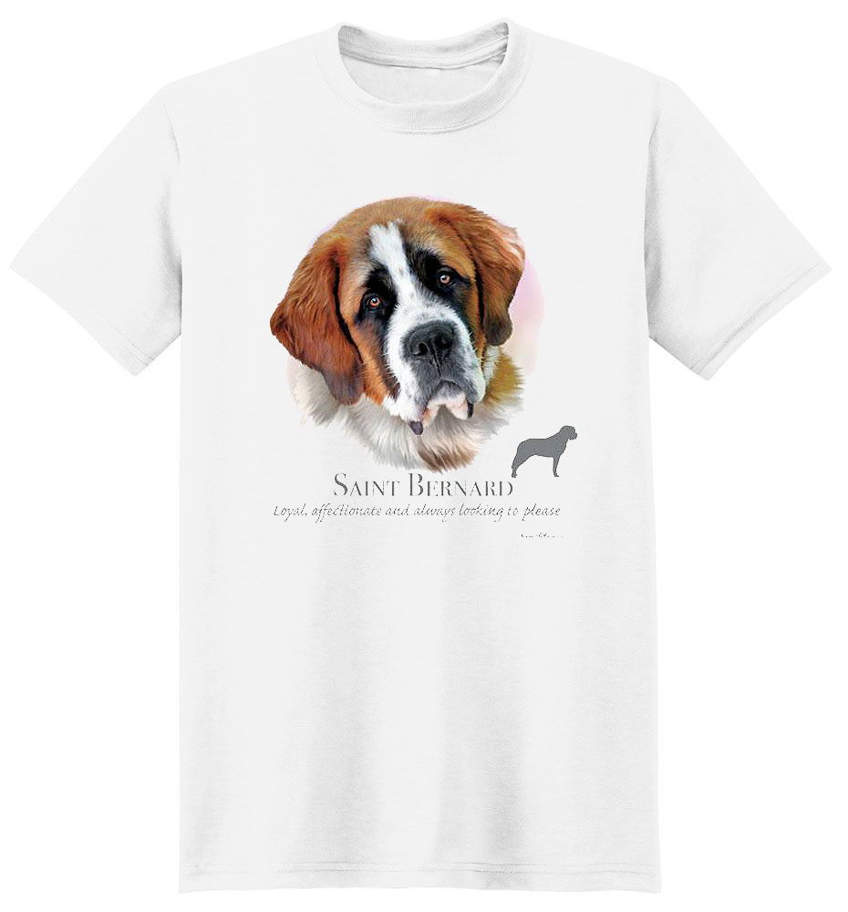 Saint Bernard T Shirt by Howard Robinson