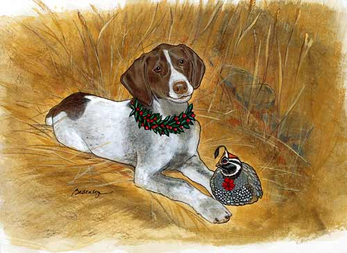 Pointer Christmas Cards