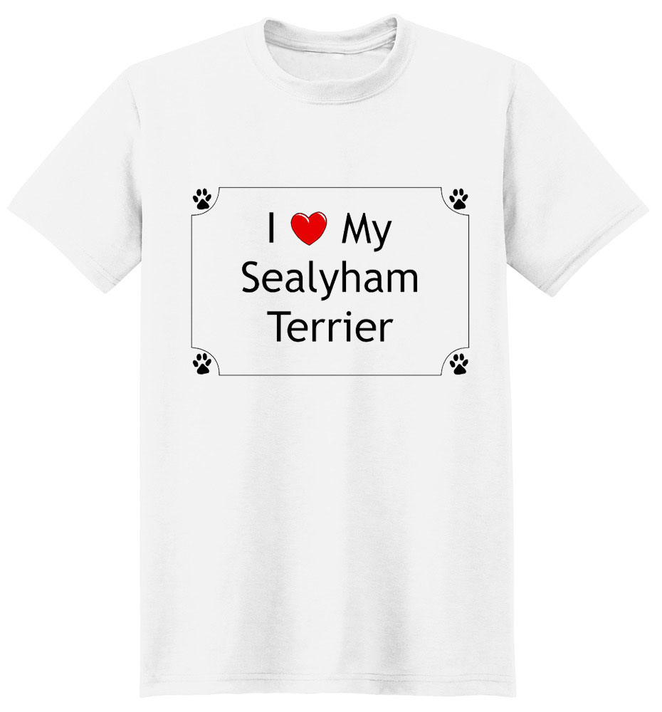 Sealyham Terrier T-Shirt - I love my