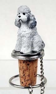 Poodle Bottle Stopper (Gray Sport cut)