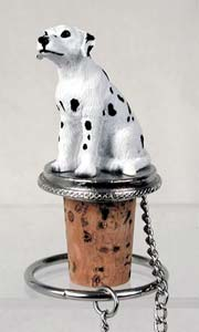 Dalmatian Bottle Stopper