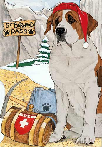 Saint Bernard Christmas Cards